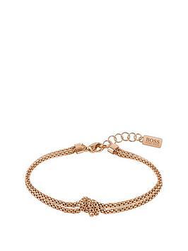 Boss Boss Boss Rosette Gold Plated Stainless Steel Mesh Knot Bracelet Picture