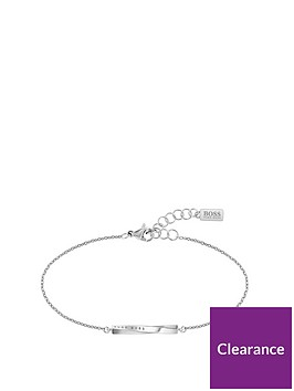 boss-signature-chain-bracelet-twisted-stainless-steel