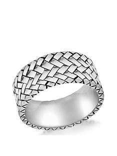 the-love-silver-collection-sterling-silver-herringbone-ring