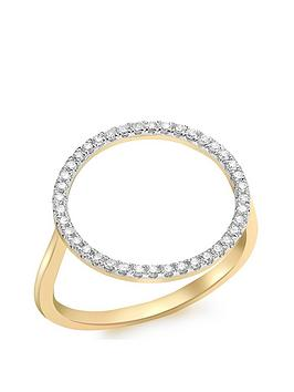 Love DIAMOND Love Diamond 9Ct Gold Diamond Circle Ring Picture