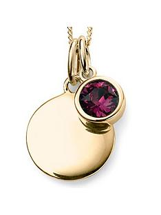 the-love-silver-collection-swarovski-birthstone-gold-plated-silver-silver-engravable-pendant-necklace