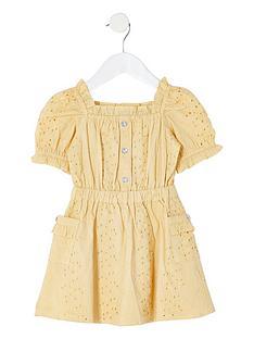 river-island-mini-girls-broderie-puff-sleeve-dress-yellow