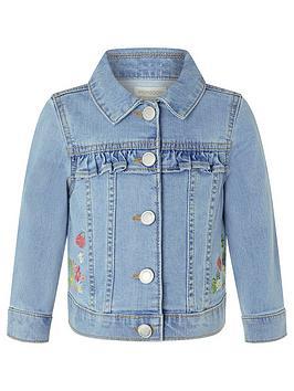 Monsoon Monsoon Baby Girls Freya Blue Denim Jacket - Blue Picture