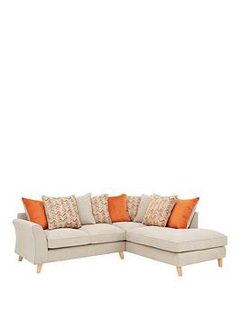 Very Legato Right Hand Fabric Scatter Back Corner Chaise Sofa Picture