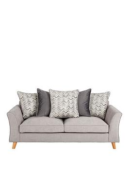 Very Legato Fabric Scatter Back 3 Seater Sofa Picture