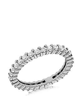 the-love-silver-collection-sterling-silver-white-cubic-zirconia-full-eternity-ring