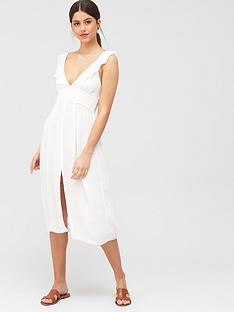 river-island-river-island-plunge-lace-insert-beach-dress-white