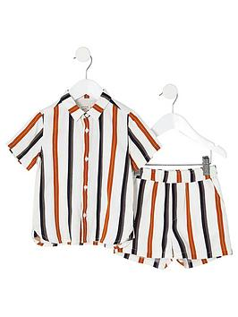 River Island Mini River Island Mini Mini Boys Stripe Shirt And Short  ... Picture