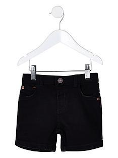 river-island-mini-mini-boys-dylan-slim-denim-shorts-black