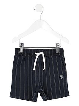 river-island-mini-boys-pinstripe-shorts-navy