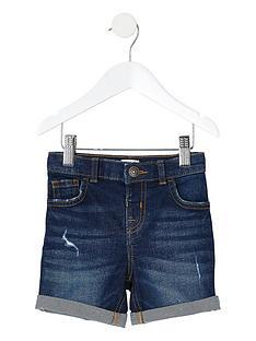 river-island-mini-mini-boys-dylan-slim-fit-denim-shorts-dark-blue