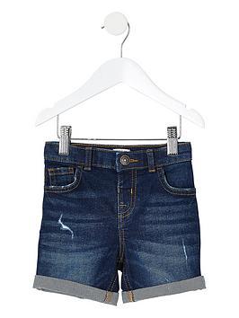 River Island Mini River Island Mini Boys Dylan Slim Fit Denim Shorts -  ... Picture