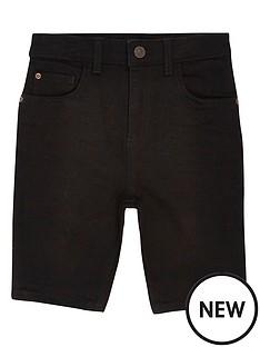 river-island-boys-sid-skinny-denim-shorts-black