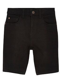 River Island River Island Boys Sid Skinny Denim Shorts - Black Picture