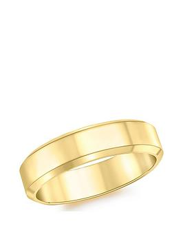 Love GOLD Love Gold 9Ct Gold 5Mm Bevel Edge Band Ring Picture