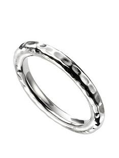 the-love-silver-collection-sterling-silver-hammered-band-ring