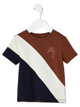 River Island Mini River Island Mini Mini Boys Colour Blocked Tshirt-Multi Picture