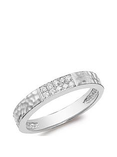 love-diamond-9ct-white-gold-hammered-diamond-band-ring