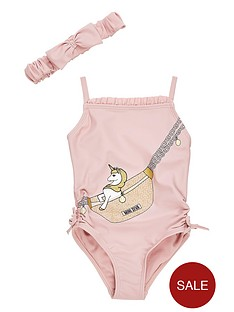 river-island-mini-girls-unicorn-swim-suit-amp-hairband--nbsppink