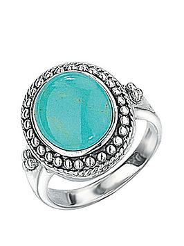 the-love-silver-collection-sterling-silver-turquoise-oval-ring