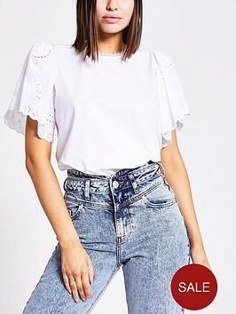 river-island-river-island-broderie-detail-short-sleeve-top--white