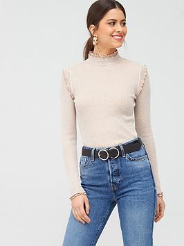 River Island River Island Frill Detail Top - Oatmeal Picture