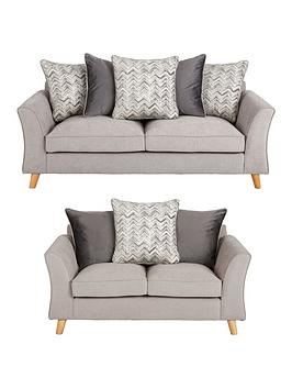 Very Legato Fabric 3 Seater + 2 Seater Scatter Back Sofa Set (Buy And  ... Picture