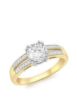 Love GOLD Love Gold 9Ct Gold Cubic Zirconia Solataire Ring Picture