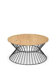 julian-bowen-jersey-round-wire-coffee-table-oak-effectblack-metal