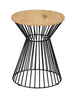 julian-bowen-jersey-round-wire-side-table