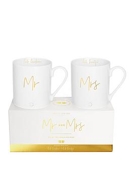 Katie Loxton Katie Loxton Mr And Mrs Gift Boxed Mugs Picture