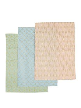 Premier Housewares Premier Housewares Frosted Deco Tea Towels &Ndash; Set  ... Picture