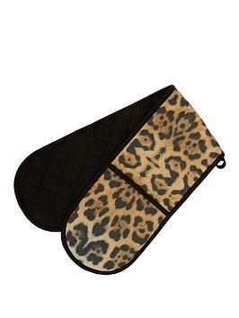 Premier Housewares Premier Housewares Leopard Double Oven Glove Picture