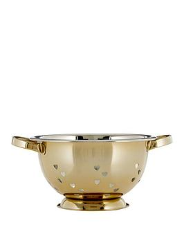 Premier Housewares Premier Housewares Hearts Design Colander &Ndash; Gold Picture