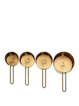 Premier Housewares Premier Housewares Alchemist Measuring Cups &Ndash; Gold Picture