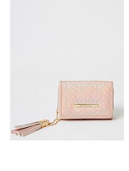 river-island-girls-embossed-ri-purse-pink