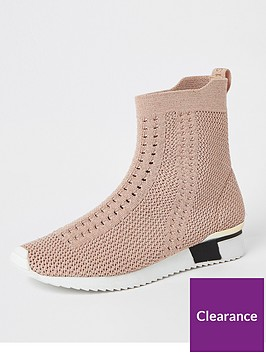 river-island-girls-knitted-high-top-trainers--nbsppink