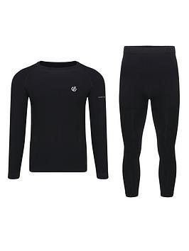 Dare 2b Dare 2B Ski In The Zone Baselayer T-Shirt/Legging Set - Black Picture