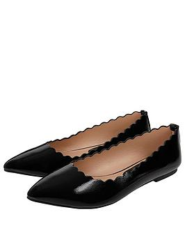 Accessorize Accessorize Patent Scallop Point Shoes - Black Picture