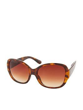 Accessorize Accessorize Savannah Glam Square Sunglasses - Tortoiseshell Picture