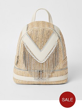 river-island-girls-diamante-tassel-backpack--nbspcream