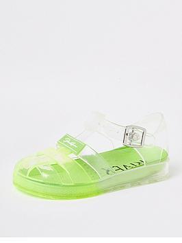 River Island Mini River Island Mini Boys Ombre Jelly Sandals - Lime Picture