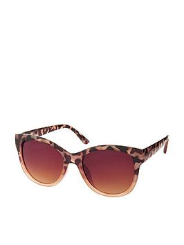 Accessorize Accessorize Waverly Half Tort Wayfarer Sunglasses - Brown Picture