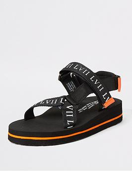 River Island River Island Boys Chunky Sandals - Black Picture