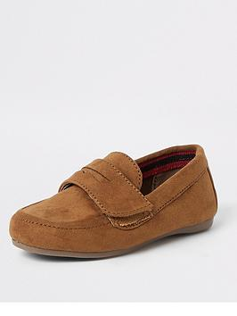 River Island Mini River Island Mini Mini Boys Velcro Strap Loafers-Tan Picture
