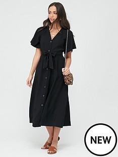whistles-anita-frill-sleeve-dress-black