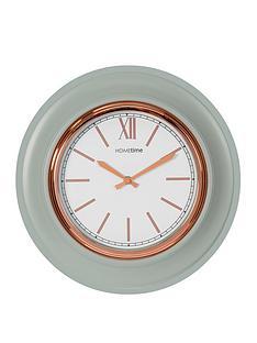 grey-gold-round-wall-clock