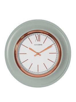 Very Grey & Gold Round Wall Clock Picture