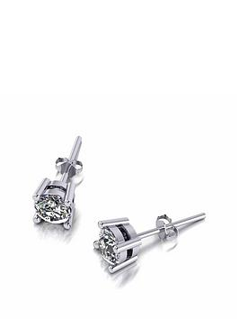 Moissanite Moissanite Moissanite Platinum 5Mm 1Ct Total Earrings Picture