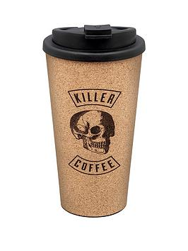 Iron & Glory Iron & Glory Killer Coffeee 15Oz Reusable Cork Coffee Cup Picture